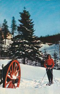 Skiing , Lac Beauport , Quebec , Canada , PU-1959