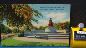 STD Vintage Lincoln Statue Entrance Lincoln Park Jersey City New Jersey Unposted