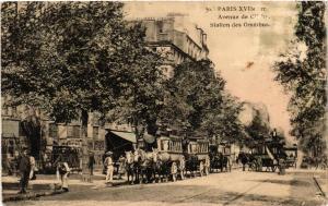 CPA AK PARIS 17e Avenue de CLICHY. Station de Omnibus (539250)