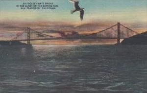 California San Francisco Golden Gate Bridge At Sunset