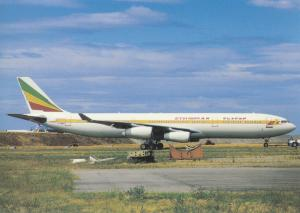 ETHIOPIAN AIRLINES, A340-312, unused Postcard