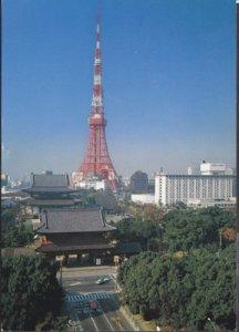 Tokyo Japan - Birds eye view of TOKYO TOWER 1960s