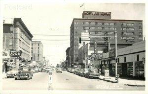 MT, Billings, Montana, First Avenue North, Roahen Photo's, RPPC
