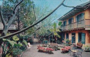Louisiana New Orleans Patio Of Maison Deville Hotel
