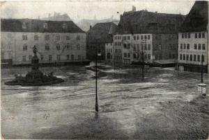 CPA AK Nürnberg Der Hauptmarkt  Hochwasser GERMANY (644636)