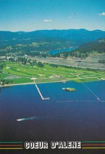Idaho Coeur d' Alene Lake and Golf COurse Aerial View