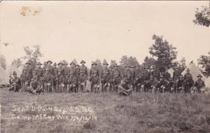 CAMP McCOY, Wisconsin, 1914 ; Sept B Co. 4 Reg. S.D.N.G.