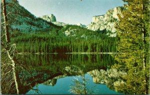 Vtg Cromo Postal Sawtooth Valle Idaho Identificación - Pequeño Lago - Sierra