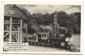 Narragansett Pier RI Norwood Hamilton Miniature Railroad Train Wonda II Postcard