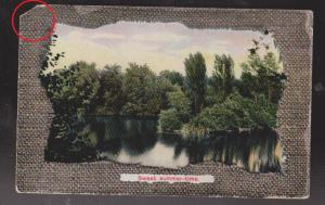 Sweet Summertime - Scene With River & Trees, German Card - Used 1912 Damaged