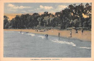 Leamington Ontario Canada The Beach Scenic View Vintage Postcard JH231128