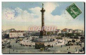 Old Postcard The Paris Column Julliet Bastille Square