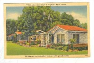 Tallahasse Auto Court in Capital City of Florida, Individual cottages with pr...