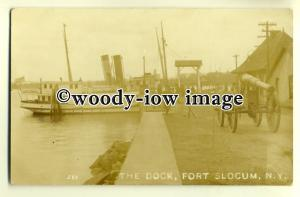 ft1281 - Ferry at The Dock , Fort Slocum , New York , USA - postcard