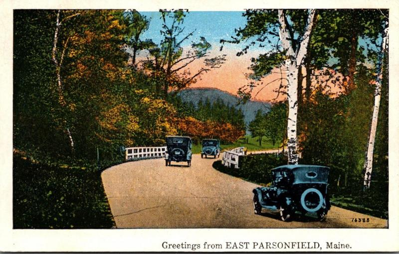 Maine Greetings From East Parsonfield 1932