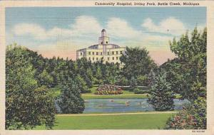 Scenic view, Community Hospital, Irving Park, Battle Creek,  Michigan, 30-40s