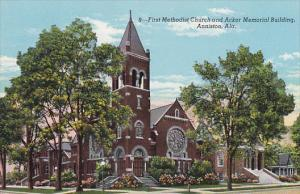 Alabama Anniston First Methodist Church and Acker Memorial Building Curteich