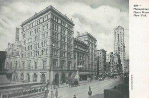 Metropolitan Opera House, New York City, Early Postcard, Unused