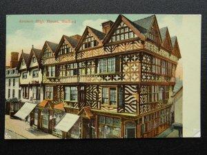 Staffordshire STAFFORD ANCIENT HIGH HOUSE & ROBERT BEAN SHOP - Old Postcard