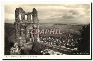 Postcard Old Ruin Grafinburg Ber Traben Trarbach