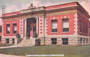 St Cloud Minnesota Public Library Carnegie Antique Postcard K107421