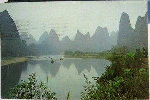 China Rains caressing the Li River - posted 1985