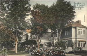 Broadalbin NY MK Husted Home c1910 Postcard