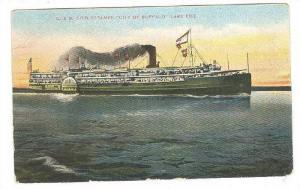 Steamer / Steamship , PU-1908 : S.S. City of BUFFALO C&B Co.