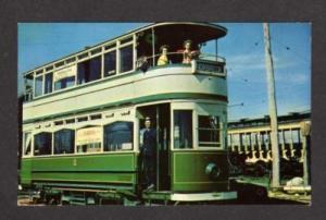 Double Decker Car Trolley England BLACKPOOL Postcard