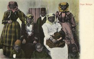south africa, Native Cape Malays (1905) Postcard