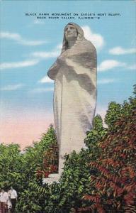 Black Hawk Monument on Eagles Nest Bluff Rock River Valley Illinois