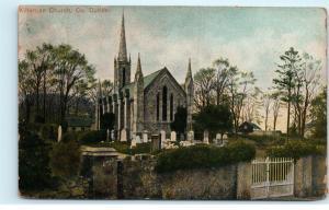 Kilternan Church Cemetery Dublin Ireland Vintage Postcard D94