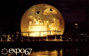 Canada - Montreal. Expo67. United States Pavilion at Night