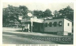 Country Line Grove, Windgap, PA, USA Gas Station Stations Postcard Post Card ...