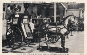 WASHINGTON D.C., 10-30s; Smithsonian Institution, Hansom Cab, US National Museum