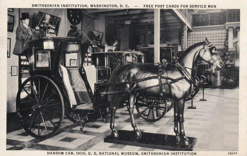 WASHINGTON D.C., 10-30s; Smithsonian Institution, Hansom Cab, US National Museum