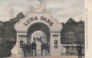 SCRANTON , Pennsylvania , 1908 ; LUNA PARK Entrance