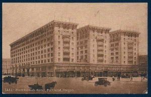 Multnomah Hotel Portland Oregon unused sepia c1910's