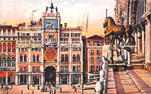 Italy Old Vintage Antique Post Card Venezia Bronze Horse Postal Used Unknown