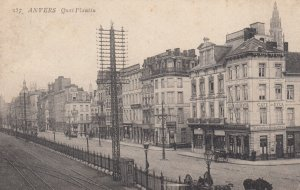 ANVERS, Belgium, 1900-1910's; Quai Plantin