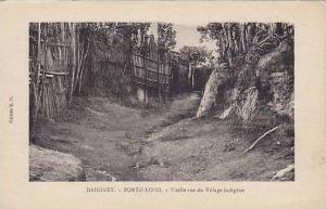 DAHOMEY . 00-10s ; Porto-Novo , Vielle rue du Village indigene