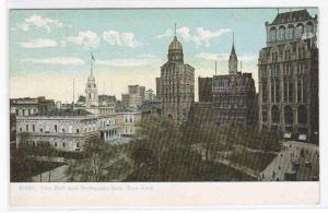 City Hall Newspaper Row New York City 1910c postcard