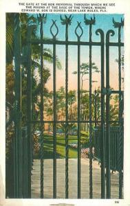 Lake Wales, FL Bok Memorial Gate and Grave Mound Vintage Postcard