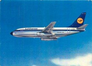 Postcard Transportation Air Lufthansa boeing 737 city jet aircraft plane
