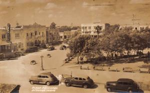 Reynosa Mexico~Brasil Cine Theatre~Hotel Tivoli~Art Deco Plaza Bldg~RPPC 1940s