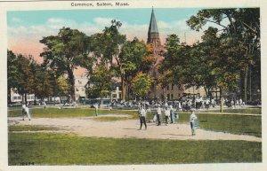 SALEm , Mass. , 1910s ; Baseball Game at Common