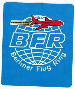 BERLINER FLUG RING VINTAGE AVIATION LABEL