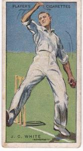 Cigarette Cards Player's Cricketers 1930 No 46 - J C White