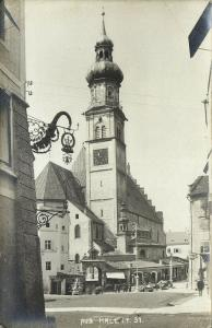 austria, HALL, Tyrol Tirol, Sankt Nikolauskirche, Church (1912) RPPC Postcard