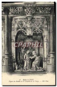 Postcard Old Brou Church Bourg Altarpiece of the Chapel of the Virgin